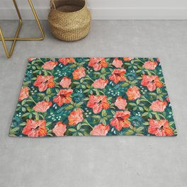 Vibrant Rhododendrons Rug