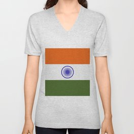 india flag Unisex V-Neck