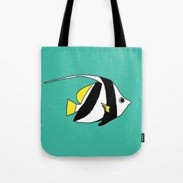Schooling Bannerfish natural colors Tote Bag