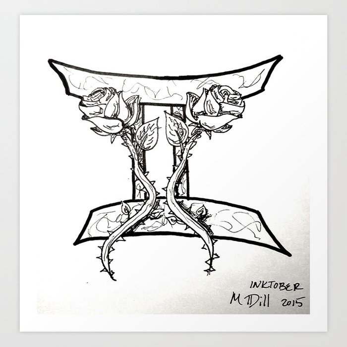 Gemini Art Print By Megandill Society6