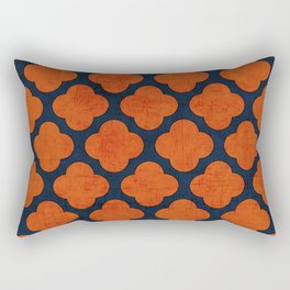 navy and orange clover Rectangular Pillow