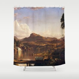 New England Scenery Landscape by Frederic Edwin Church Shower Curtain