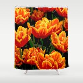 Orange tulips II Shower Curtain