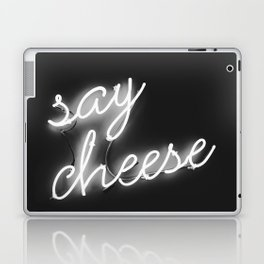 Say Cheese (Black and White) Laptop & iPad Skin