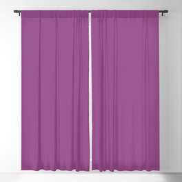 Dark Fuchsia Solid Color Pantone Willowherb 18-3120 Accent to Color of the Year 2021 Blackout Curtain