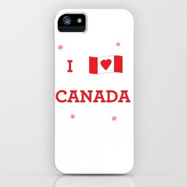 I heart Canada iPhone Case