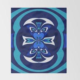 Pacific Northwest Coast Native Medallion Throw Blanket