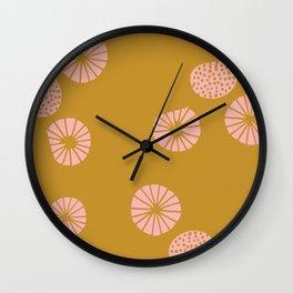 Dandelion flying mustard Wall Clock