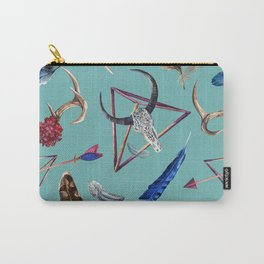 Bohemian Pastel Textures And Shapes  Blues, Greens, Pinks, Purples Carry-All Pouch