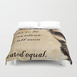 All Men Are Equal Duvet Cover