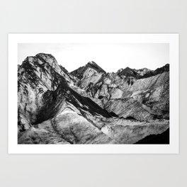 Black Dust on Solheimajokull Art Print