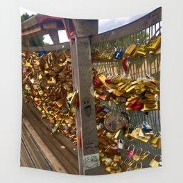 Parisienne Locks of Love Bridge Wall Tapestry