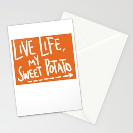 Live Life My Sweet Potato Stationery Cards