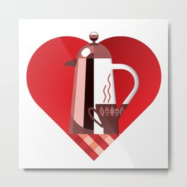 i like coffee Metal Print
