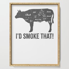 Cow I'd Smoke That BBQ Fathers Day Serving Tray