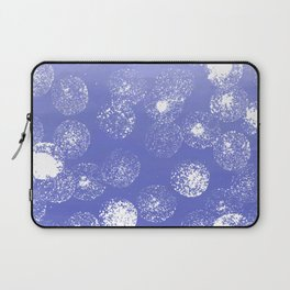 Abstract hand painted violet white watercolor paint polka dots Laptop Sleeve