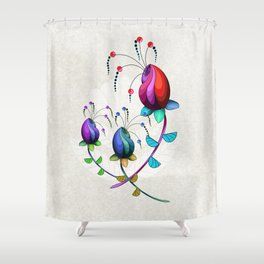 Alien Flower Arrangement Shower Curtain