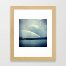 Rainbow Showers Framed Art Print