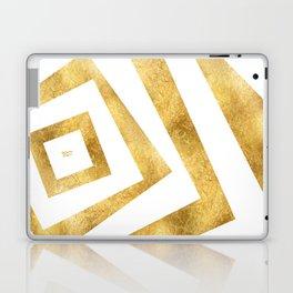 ART DECO VERTIGO WHITE AND GOLD #minimal #art #design #kirovair #buyart #decor #home Laptop & iPad Skin