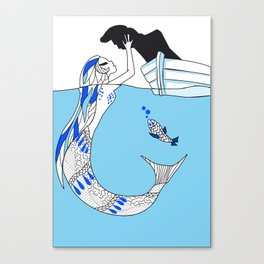 Pisces / 12 Signs of the Zodiac Canvas Print