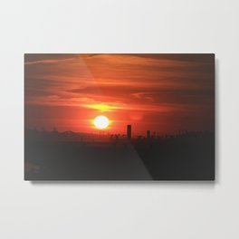Fire city Metal Print