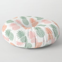 Pineapple hand drawn on old paper texture. Tropical Vintage illustration pattern. Floor Pillow