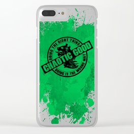 Chaotic Good RPG Game Alignment Clear iPhone Case