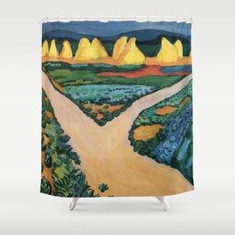 August Macke Vegetable Fields 1911 Shower Curtain