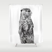 otter Shower Curtains featuring Otter by Meredith Mackworth-Praed