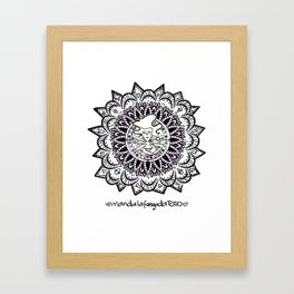 Meandalas Framed Art Print
