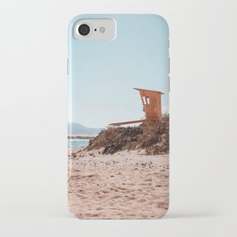 Lifeguard yellow in the beach iPhone Case