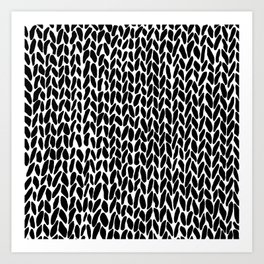 Hand Knit Zoom Art Print
