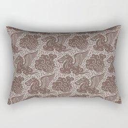 Pegasus Pattern Beige Brown Neutrals Rectangular Pillow