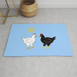 Hens and Sun Rug