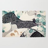 egypt Area & Throw Rugs featuring Bird from Egypt by Krismarx