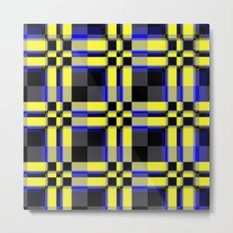 pattern jellow blue black Metal Print