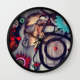 Stuff Collage Wall Clock