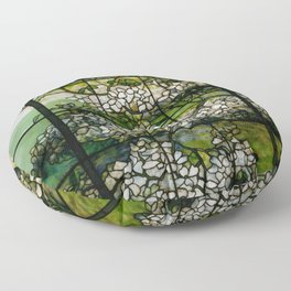 Louis Comfort Tiffany - Decorative stained glass 2. Floor Pillow