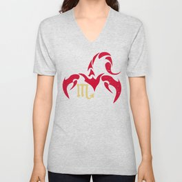 Scorpio, the eighth astrological sign in the Zodiac | Red Scorpion Unisex V-Neck
