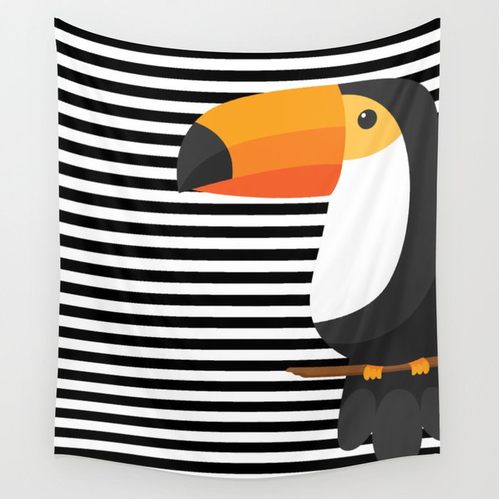 TOUCAN tropical toucans Wall Tapestry