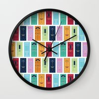 doors Wall Clocks featuring Doors by Luciana Brasil