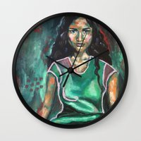 jasmine Wall Clocks featuring Jasmine by Juliette Caron