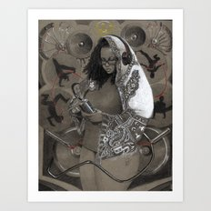Holy Mother of HipHop Blessed Be Thy Beats. Art Print