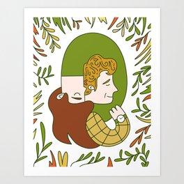 Custom Couple Illustration Art Print