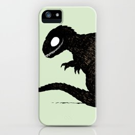 T Rex and Raptor iPhone Case