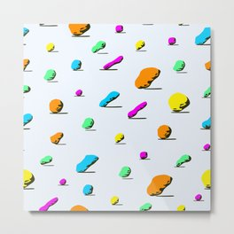 colorful stone pattern on light background. Metal Print