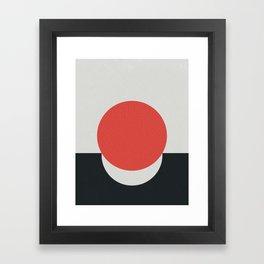 No Way Back / Red & Black Framed Art Print