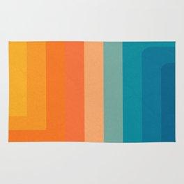 Retro 70s Color Lines Rug