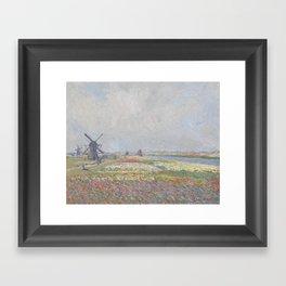 Tulip Fields near The Hague Framed Art Print