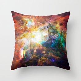 The Cat Galaxy Throw Pillow